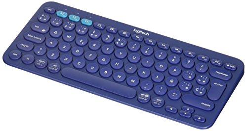 Logitech K380 79 Key Bluetooth Wireless Multi-Device Spanish Keyboard - Blue - 920-007563