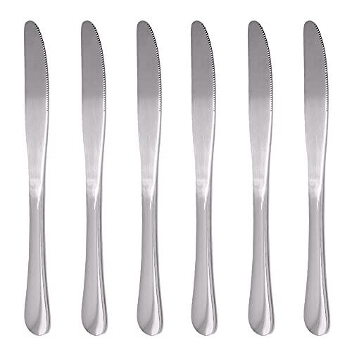 Wowfeu - Juego de cuchillos de mesa (acero inoxidable)