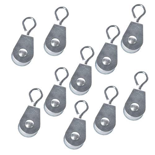 10 Stücke Gewächshaus-Wasserlinienrollen/Seilzugrollen Riemenschiben für Hühnerfarmen - Als Bild Typ 3