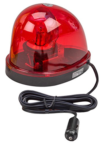 Wolo (3210-R) Emergency 1 Rotating Emergency Warning Light - Red Lens, Magnet Mount