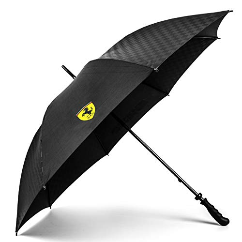 Scuderia Ferrari 2018 Team Regenschirm, groß, schwarz, offizielles Lizenzprodukt