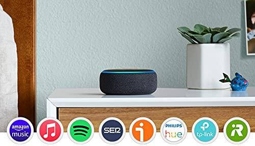 Oferta de Echo Dot (3.ª generación) - Altavoz inteligente con Alexa, tela de color antracita