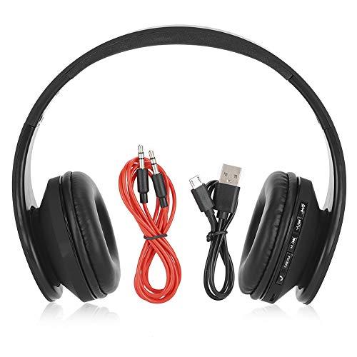 Plyisty Auriculares inalámbricos Bluetooth, Auriculares estéreo de Alta fidelidad con cancelación de Ruido, Auriculares estéreo Plegables inalámbricos, Auriculares portátiles para teléfono/PC/TV