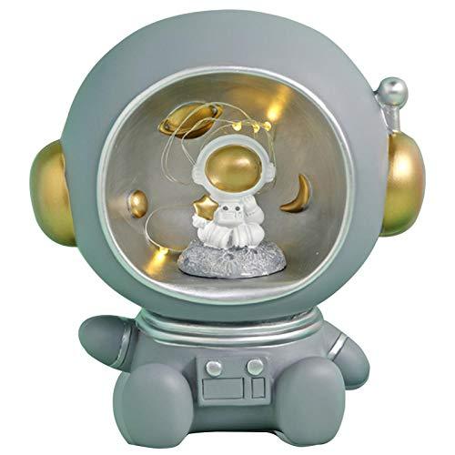 Hucha de cerdito para decoración para niñas y niños, astronauta con luz para la temporada escolar, cumpleaños, decoración del hogar, decoración de guardería, recuerdo, o hucha de ahorro.