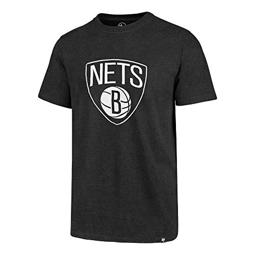 '47 NBA Men's MVP Club Team Color Alternate Player Name and Number Jersey T-Shirt (Kyrie Irving Brooklyn Nets Black, X-Large)