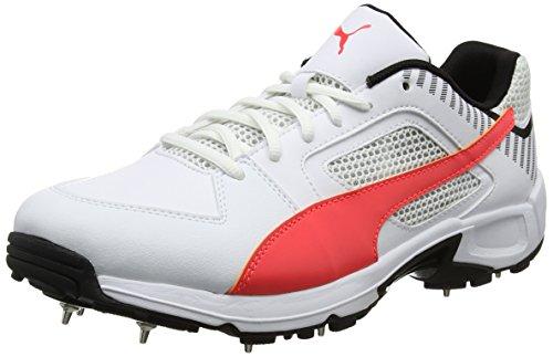 Puma Men s Team Full Spike White Cricket Shoes 7