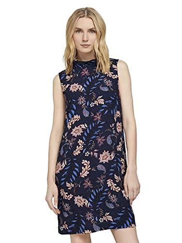 TOM TAILOR Damen 1020635 Basic Kleid, 24312-Navy Floral Design, 42