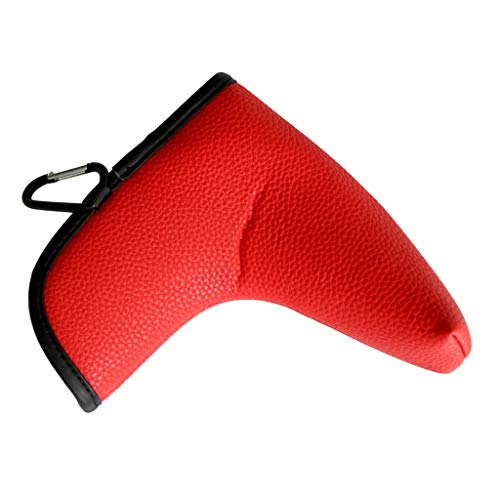 Toygogo Golf Putter Blade Head Cover Headcover Closure Boot Headcover Protector Accessories for Golf Activity 2 Colors Optional Red