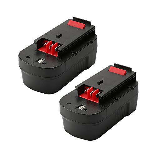 2 Packs 3.6Ah HPB18 Replacement Battery for Black and Decker Battery 18V Ni-Mh Compatible with HPB18-OPE 244760-00 A1718 FS18FL FSB18 Firestorm