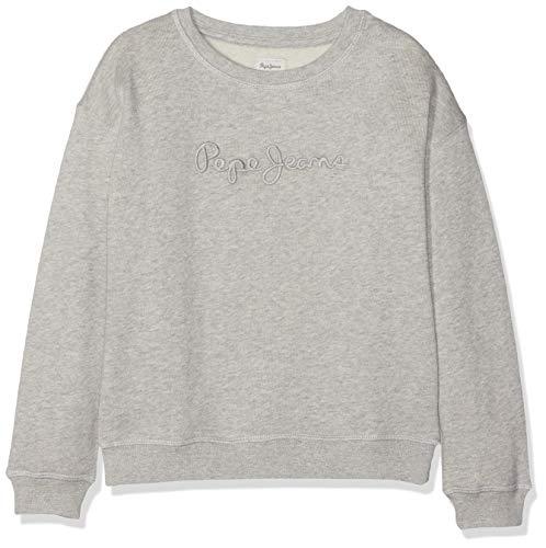 Pepe Jeans Crew Neck Girls Felpa, Grigio (Grey Marl 933), 9-10 Anni (Taglia Produttore: 10) Bambina