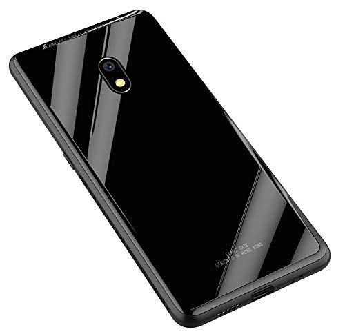 Kepuch Quartz Case Capas TPU &Voltar (Vidro Temperado) para Samsung Galaxy J7 Pro J730 - Preto