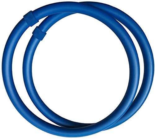 mengqiqi Hula Hoop para Brazo,Hula Hoops para Adultos,Upgrade Brazo Hula Hoop Quema De Grasa Equilibrio De Entrenamiento Deportivo para Bajar De Peso, 2 Piezas De Diámetro Interno 28.5 Cm (Azul)