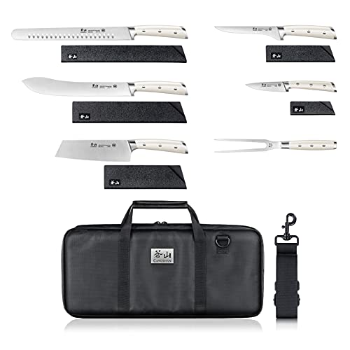 Cangshan S1 Series 1023718 German Steel Forged 7-Piece BBQ Knife Set