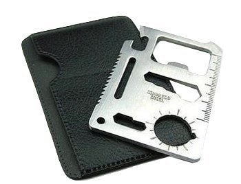 Yansanido 11 in 1 Credit Card Wallet Knife. Stainless Steel Survival Multitool Utility. Perfect Tool for Bug Out Bag, Camping or Fishing. by Yansanido
