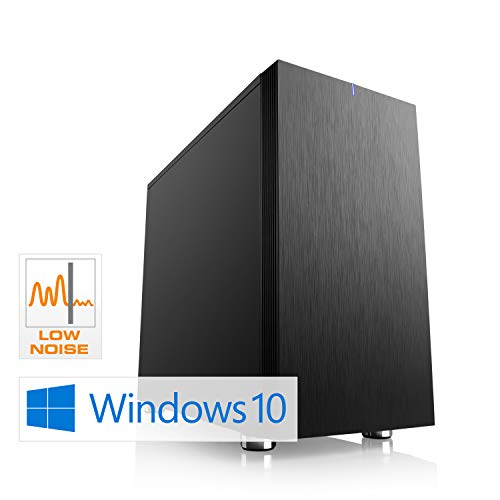 CSL Sprint D10082X (Ryzen 3) schallgedämmter Gaming PC inkl. Windows 10 - AMD Ryzen 3 2300X 4X 3500 MHz, 8 GB RAM, 240 GB M.2 SSD, MSI Mainboard, GeForce GTX 1050, GigLAN, USB 3.1, HD Audio