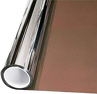 VViViD One-Way Bronze Mirror Finish Vinyl Window Wrap Self-Adhesive Film Roll (12 Inch x 60 Inch)