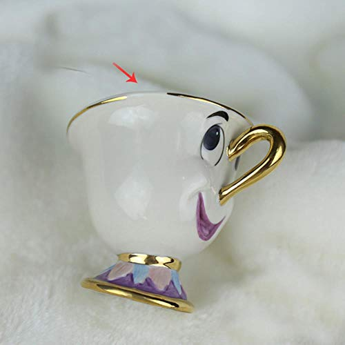 Reutilizable Taza De Tetera De La Bella Y La Bestia De Dibujos Animados Sra. Potts Chip Tea Pot Cup One Set Nice Christmas Gift Envío Gratis, 1 Taza