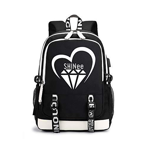 Shinee Rucksäcke Hochwertiger Stoff Leichter Sportrucksack Hochwertiger Casual Rucksack Shinee Backpacks (Color : Black06, Size : 30 X 15 X 43cm)