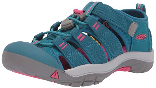 KEEN Unisex-Kid's Newport H2 Water Shoe, deep Lagoon/Bright Pink, 3 M US Big Kid
