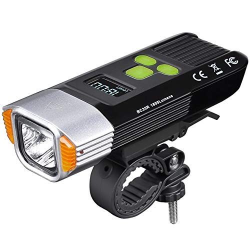 RUIVE Rechargeable Bike Light, 600 Lumen Bright Bicycle Lights, 5 Light Modes, For Commuters, Road Cyclists