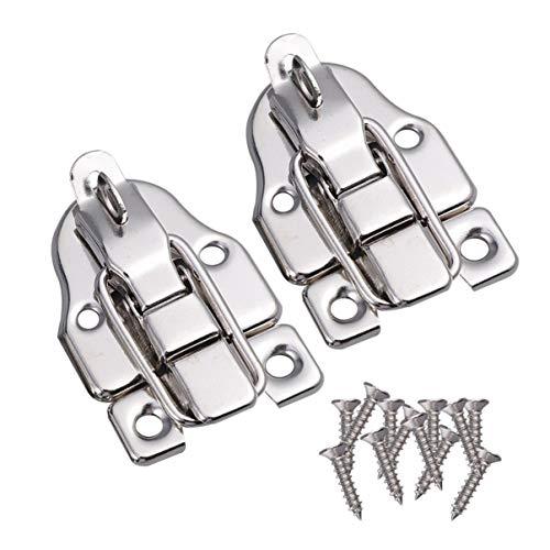 Cabilock - 2 cierres para maletas (metal, cierre de palanca, cierre de palanca, cierre de hebilla, para caja de medicina, caja de herramientas, baúles