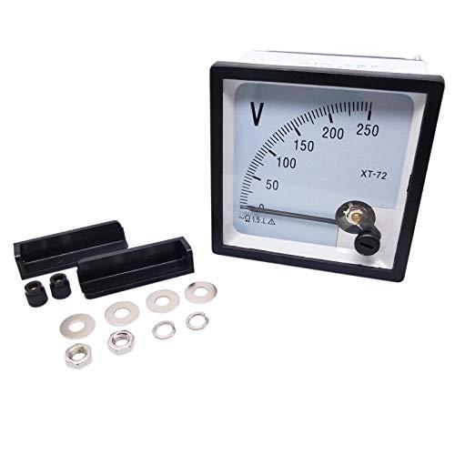 meter voltmeters AC 0-250V Square Analog Volt Pointer Needle Panel Meter Voltmeter XT-72