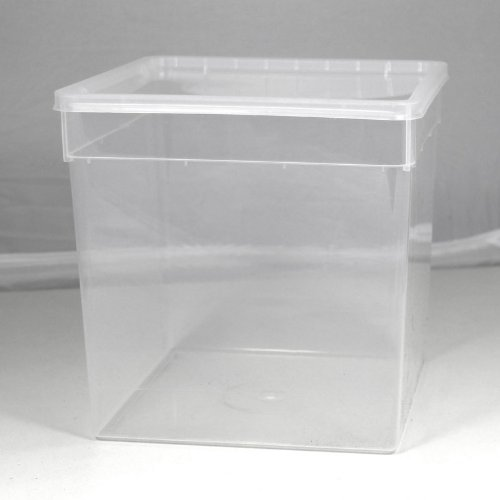 BraPlast Dose 5,8 Liter 18,5 x 18,5 x 19,0 cm - transparent mit transparentem Deckel/Kunststoff Stapelbox
