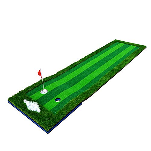 Best Prices! JHHXW Golf Putting Mats, 300 75cm 4-Color Grass Golf Mat, Multi-Lane, Portable Indoor O...
