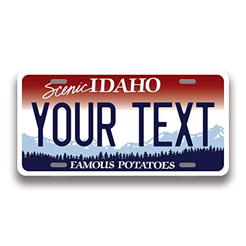 Generic Custom 50 State License Plate   Custom Idaho Fake License Plate for Front of Car   Personalized Custom Car Tags   Choose from All 50 States   6 x 12 Inch   Crafted in USA