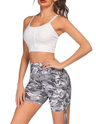 COOrun Sexy Sports Bra and Shorts Workout Set Womens 2 Piece Stretchy Yoga Outfits Gym Clothes Set(PAT2,S)