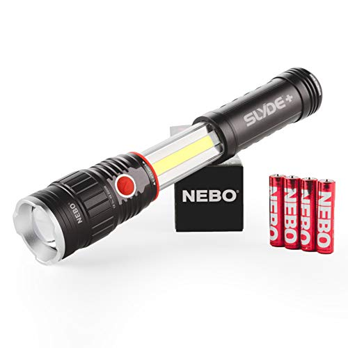 NEBO 300-Lumen LED Worklight Flashlight: Slyde+ Has a Strong Magnetic Base; Use as a Standard Flashlight or Slide to Open and Reveal the Best Work Light - Nebo 6525
