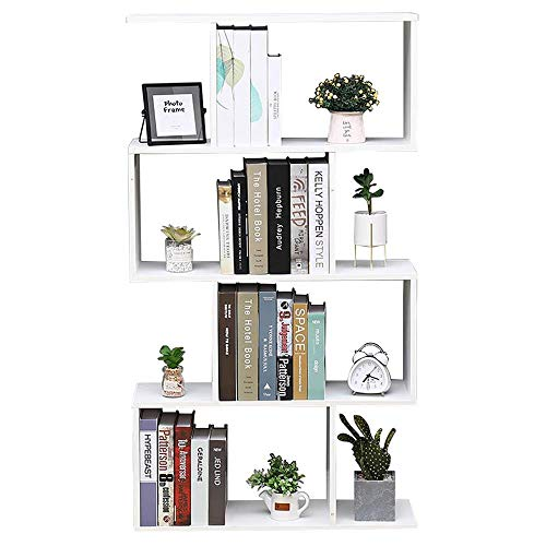 Librería Estante Blanco Oficina Moderna Contemporáneo Contemporáneo partición Casa de Madera Día 70x23.5x127.5 Estantes autoportantes Estantes Estantería Pared cúbica Entrada de diseño Sala