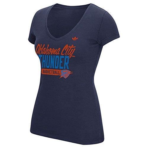 adidas de la mujer Oklahoma City Thunder Thunder Thunder camiseta S/S Slub así de malla, color azul marino - B345W PYCWOKM, Atlético, Marino