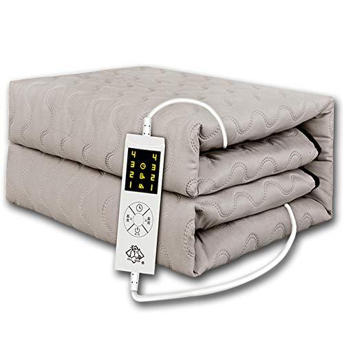 LMXJB RVS gekamd katoen elektrische verwarmde deken puur warmte met 4-traps temperatuurregeling voor gestikt matras bed kit spanbeddoek verwarming, wasbaar