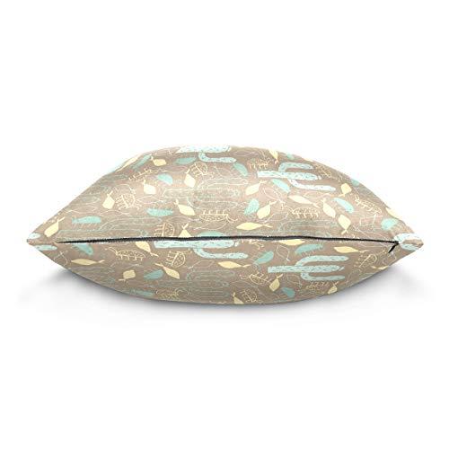 XiangHeFu Cactus Paint Pillow Case Cushion Cotton Velvet Throw Pillow Cover 18x18 Inch