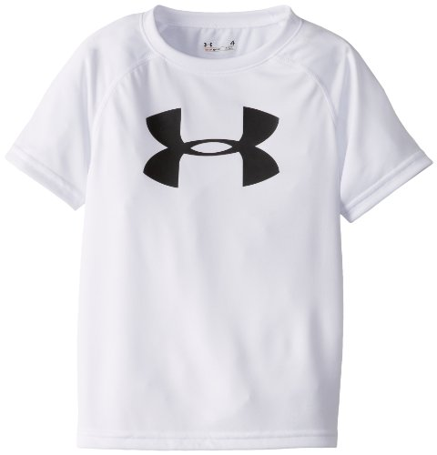 Under Armour Toddler Boys' Big Logo Short Sleeve Tee Shirt, White, 2T