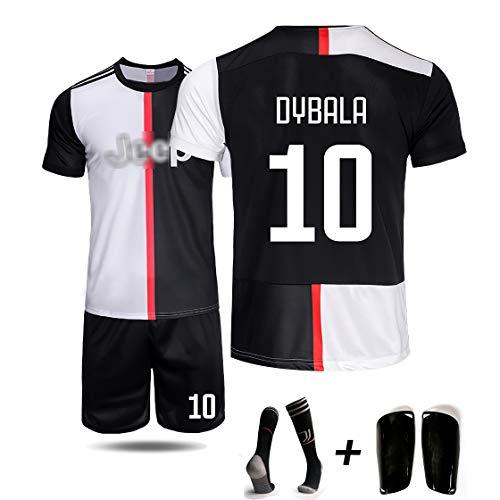 DUBAOBAO 2019/2020 voetbalclub, spelers NO.7 / NO.10 jersey, vier sets - kinderen en jongeren voor volwassenen met lange mouwen - extra sokken en beschermende uitrusting