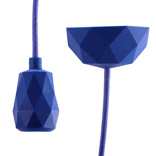 DIY opknoping LAMP Raak   3m kabel, blauw   silicone eettafel lamp, lamp stopcontact, plafondlamp, hanger