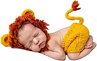 Newborn Baby Photography Props Clothes Hand-made Photoshoot Crochet Outfits Costume Set for Baby Boys Girls