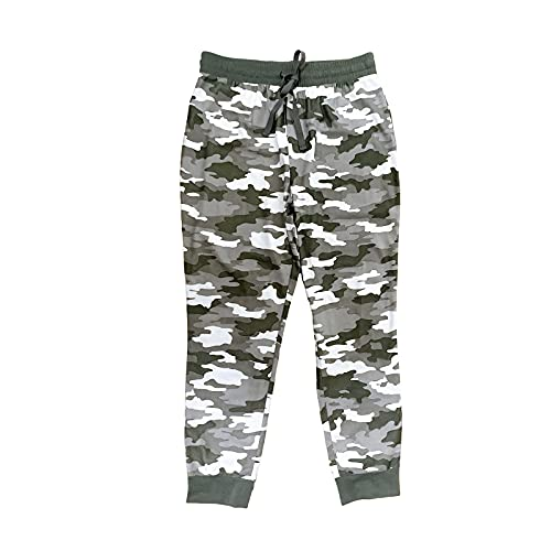 SAINTEKAPPAREL Men's Microfleece Sleep Pant Elastic Waistband Drawstring Pajama Pant with Mock Fly Camouflage S