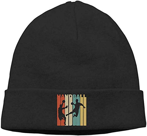 Vintage Style 1970's Style Handball Unisex Hedging Hat Watch Cap,Black