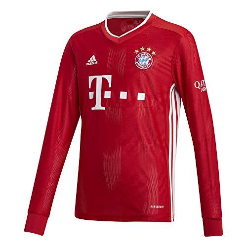 adidas Kinder 20/21 FC Bayern Home Jersey Longsleeve Trikot Langarm, Fcbtru, 128