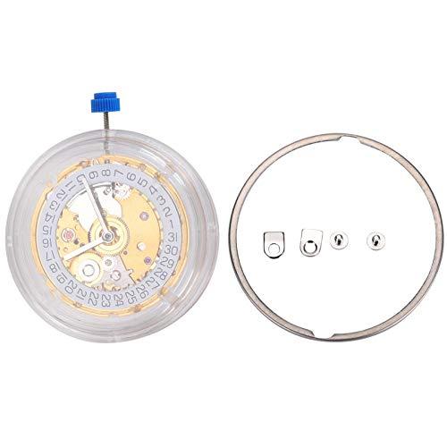 Movimiento de reloj, movimiento de reloj Pieza de reloj mecánico Movimiento automático duradero mecánico, 2824 St2130 para pieza de repuesto de movimiento de reloj(NO.2824 golden)