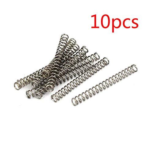 DULALA Federn Druckfedern 10 Stück 304 Edelstahl Druckfedern (0,3 mm x 2 mm x 20 mm)