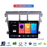 9 Inch Touch Screen 2 Din Android 9.1 Car Stereo for Toyota Vios 2007-2013 Radio with GPS Navigation Built in DSP FM RDS Support Bluetooth/SWC/Mirror Link,8 core,4G+WiFi: 2+32GB