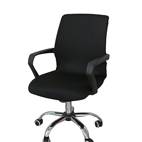 Gaeruite Stuhlhusse Bürostuhl Schreibtischstuhl Drehstuhl Bezüge ,Dehnbar Rotierenden Sessel Cover Schonbezug (S, Black)
