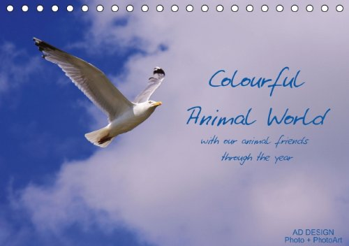 Colorido mundo Animal (Reino Unido versión) (Table Calendar 2014 DIN A5 horizontal) – Autor: Dölling Angela VE diseño fotos + Photoart ad