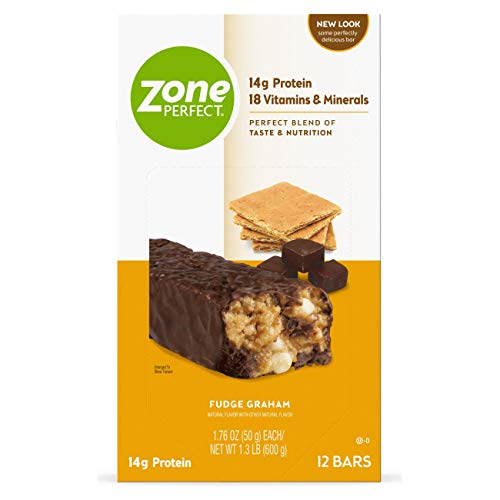 ZonePerfect Nutrition Snack Bars, Fudge Graham, 1.76 oz, (12 Count)