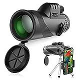Telescopio Monocular, innislink 40x60 monocular HD Zoom Monoculares Telescopio con adaptador de teléfono y trípode, impermeable a prueba de golpes Para caza acampar observación aves juego de fútbol
