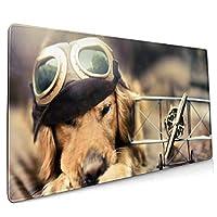 マウスパッド 可愛い 犬 マウスパッド ゲーミングマウスパット デスクマット キーボードパッド 滑り止め 高級感 耐久性が良い デスクマットメ キーボード パッド おしゃれ ゲーム用(90cm*40cm)